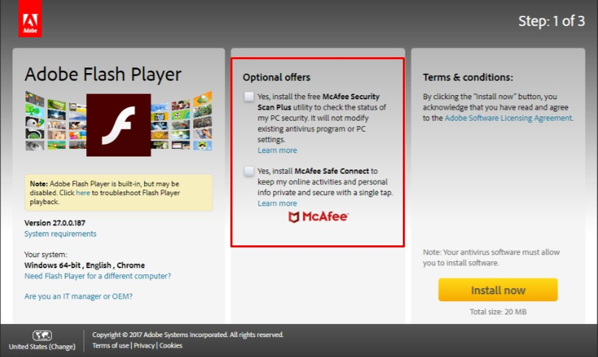 adobe flash player download gratis windows 10